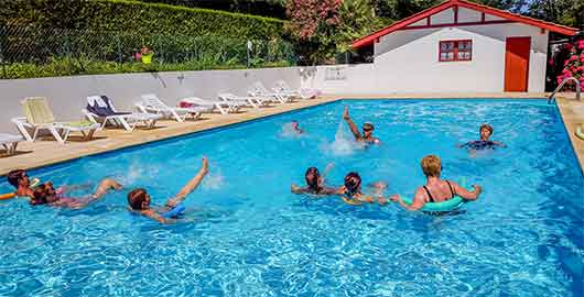 camping Pays Basque cours d'aquagym